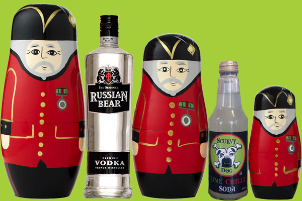 Vodka goes with anything but Scurvy Dog makes it memorable.